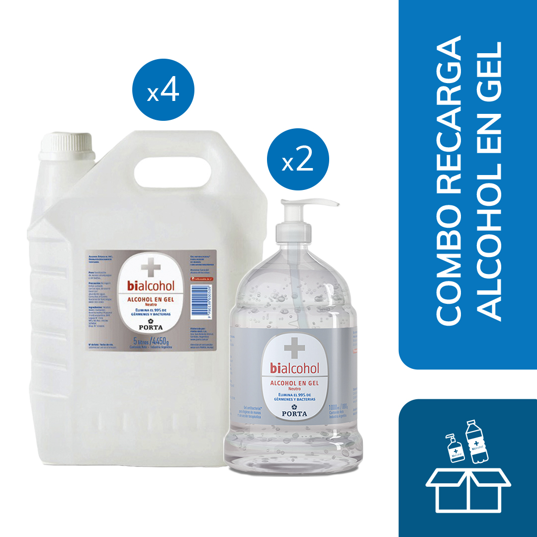 Kit Recarga Alcohol en Gel s