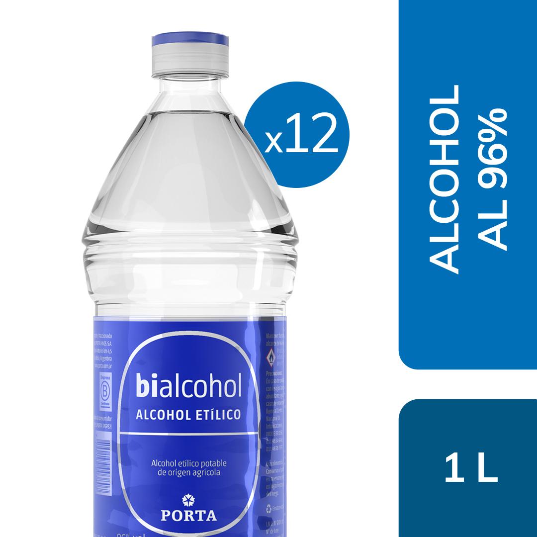 12 un. alcohol al 96% 1000mls