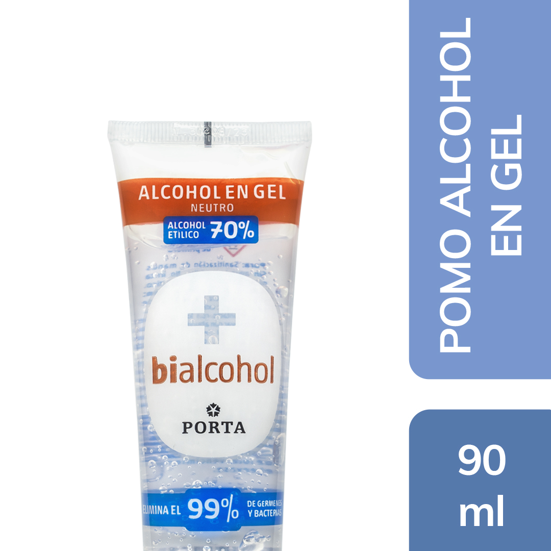 Alcohol en gel Neutro Pomo 90mls