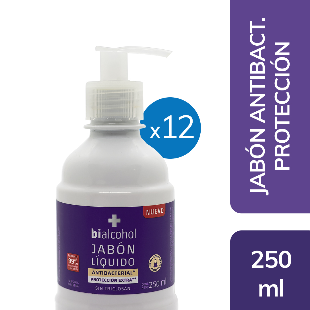 12 un. Jabón Antibacterial Extra Protección 250mls