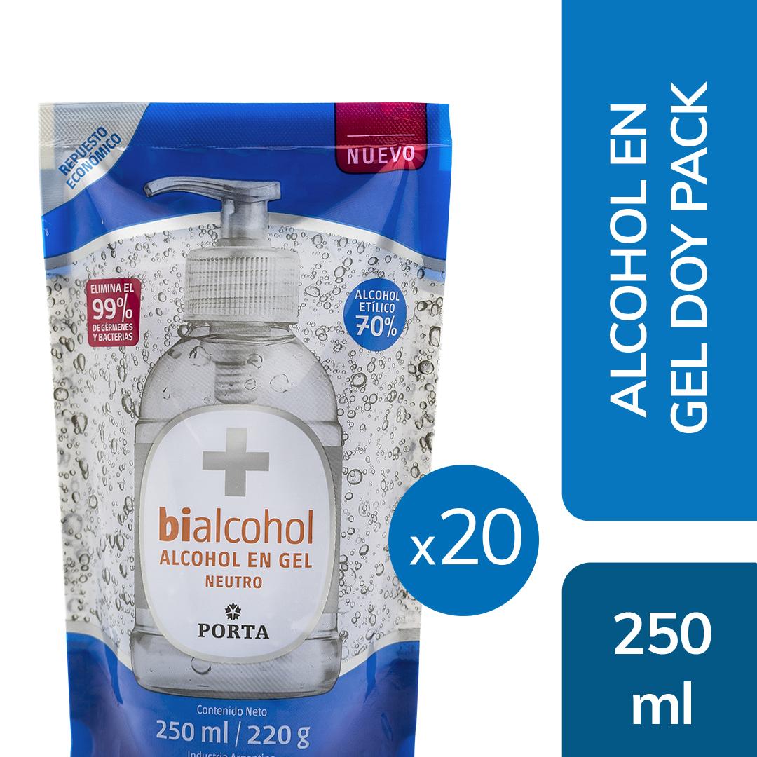 20 unid. Alcohol en Gel Doy Pack 250mls
