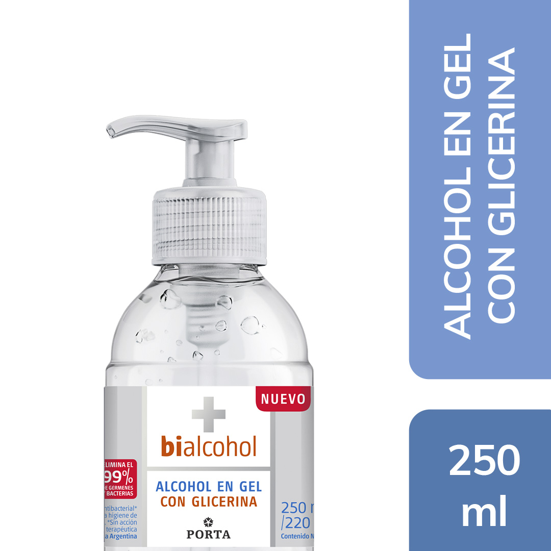 Alcohol en Gel con Glicerina 250mls
