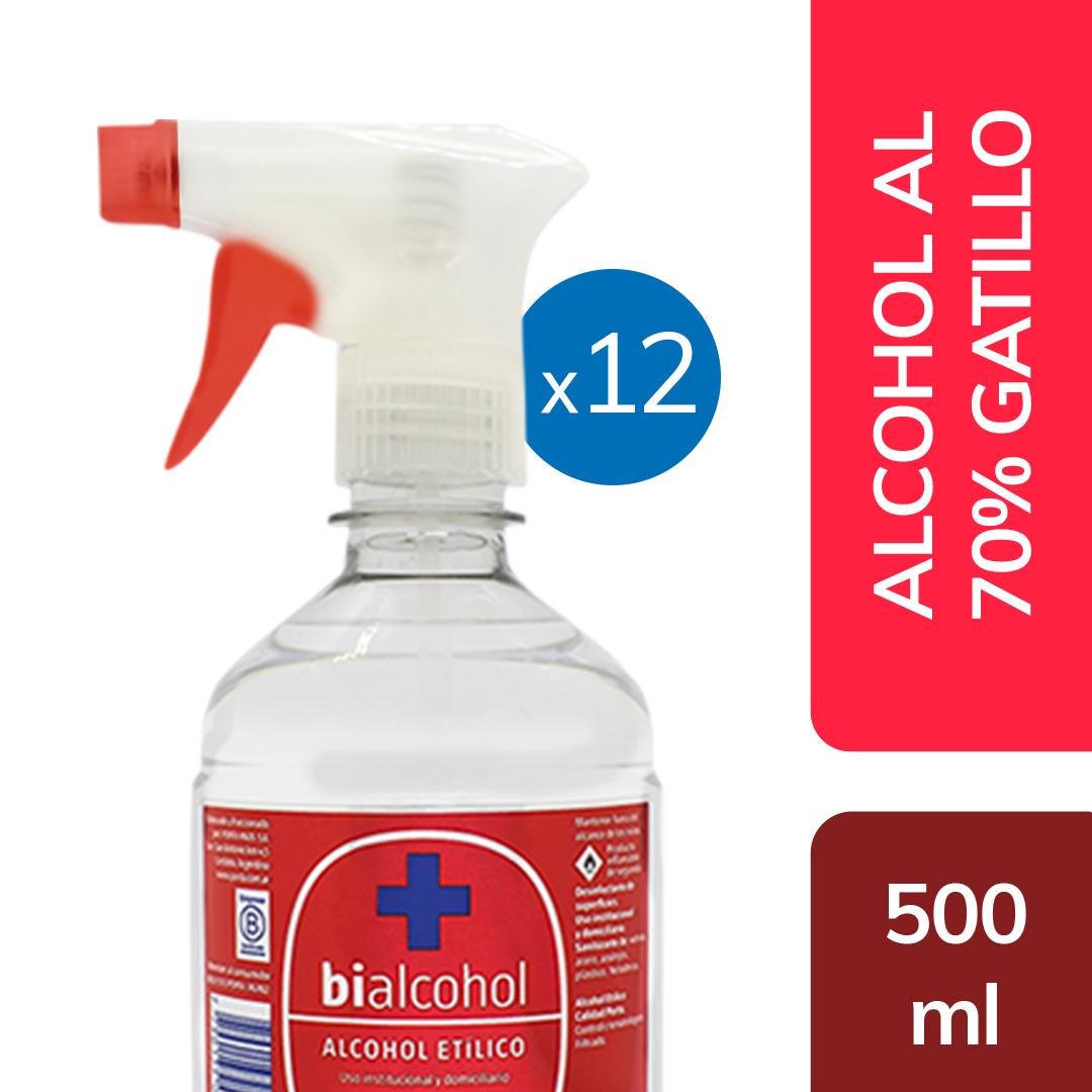 12 u. Alcohol al 70% Gatillo 500mls